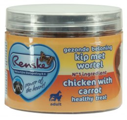 Renske Dog Healthy Mini Treat Chicken with carrots - zdrowy mini przysmak dla psów - kurczak z marchwią (100 g)